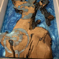 Blue Ocean Coaster Set Resin Pour Thumbnail