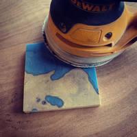 Blue Ocean Coaster Set Sanding Thumbnail
