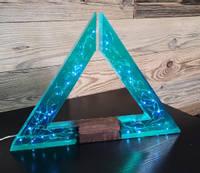 Blue-Resin-Geometric-Triangle-Lamp-by-MB-Resin-art Thumbnail