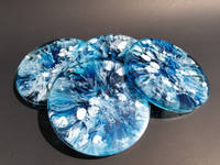 Blue and White Coaster Set Thumbnail