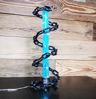 Blue-resin-and-chain-lamp-by-MB-resin-art Thumbnail