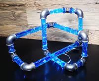 Blue-resin-pipes-lamp-by-MB-Resin-art Thumbnail