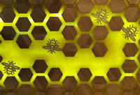 Bee and Honeycomb Inspired Oak Coffee Table Thumbnail