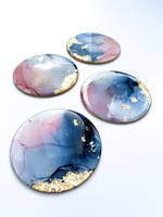 Alcohol Ink and Resin Coasters Thumbnail