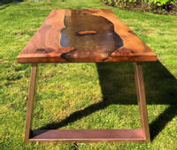 Copper and Elm Resin River Table Thumbnail