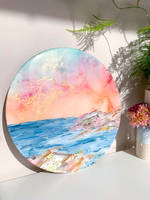 Emily-McSevich-Art-Resin-Coated-Circular-Painting Thumbnail