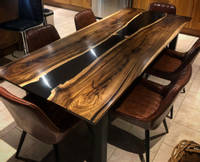 Black Resin River Dining Table Thumbnail