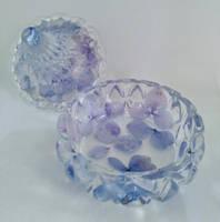 Hydrangea Open Trinket Pot by Unique Creations Thumbnail
