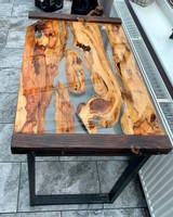 Resin and wood Coffee Table Thumbnail