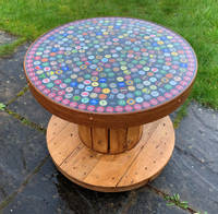 Bottle Cap Cable Reel Table Thumbnail