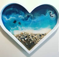 Ocean Heart Resin Art Thumbnail
