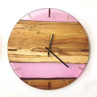 Wood and Resin Opal Clock Collection Thumbnail