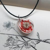 Red Flower Resin Pendant Thumbnail