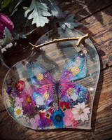 Resin, Flower and Butterfly Vanity Tray  Thumbnail