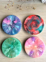 Resin Petri Rainbow Coasters Thumbnail