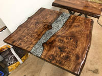 Silver Swarf and Resin Table Thumbnail