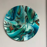 Turquoise-Painting-with-Resin-Coating-by-Loonar-Designs Thumbnail