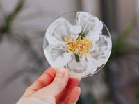 White-Flower-Coaster-by-Handcrafted-by-Zsuzsi Thumbnail