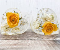 Yellow-and-White-Hearts-Pair-by-EB-Flower-Preservation Thumbnail