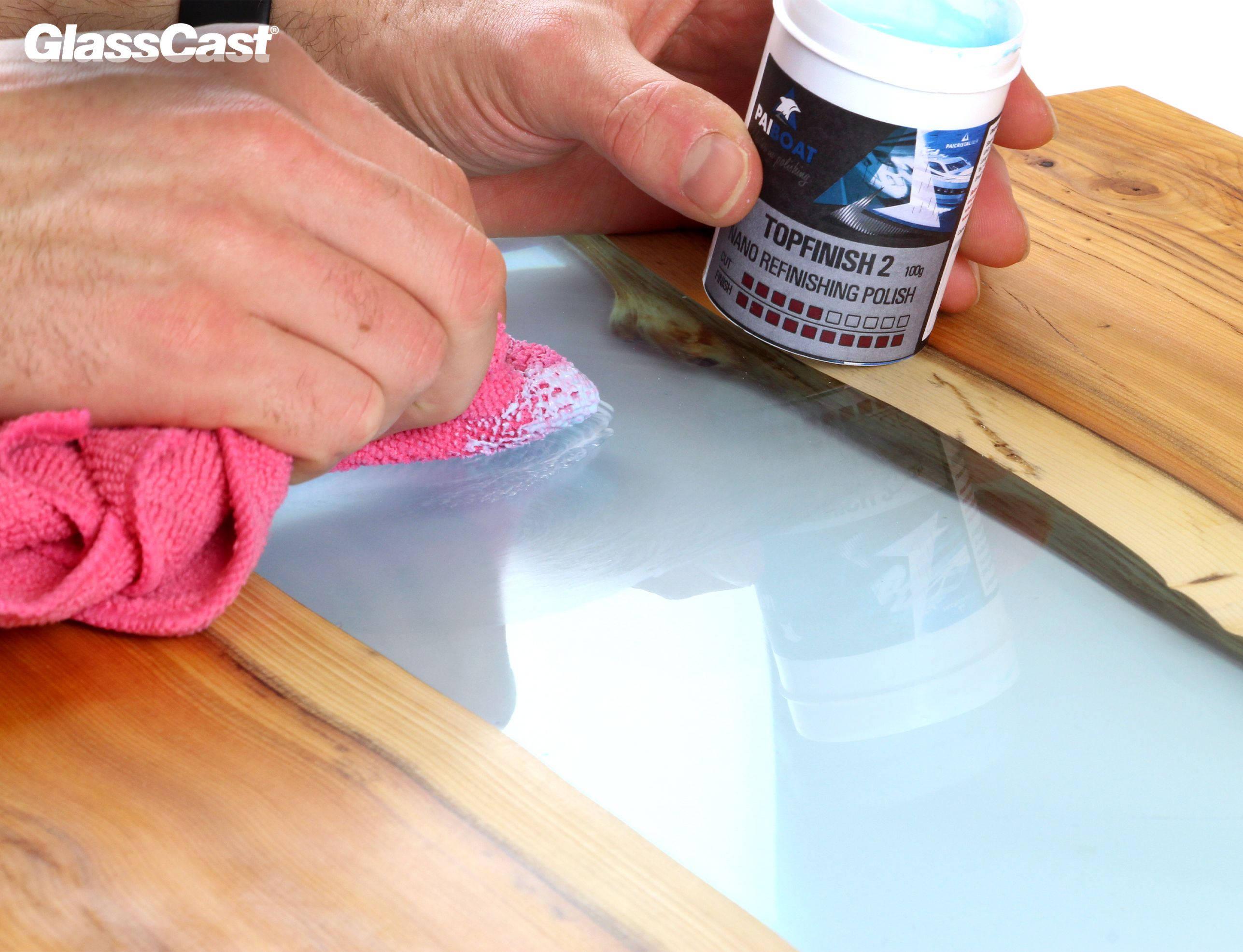 TOPFINISH 2 Ultra High Gloss Polishing Compound for Epoxy