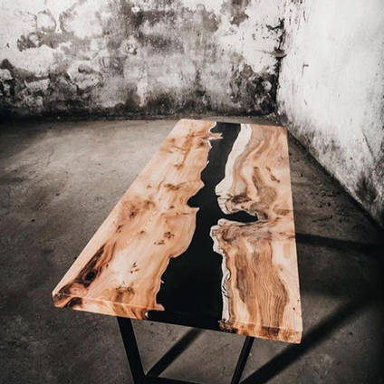 Black River Table by Resin Edge