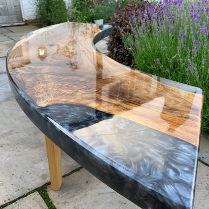 Black and Silver SHIMR River Bar by ManorWood Designs