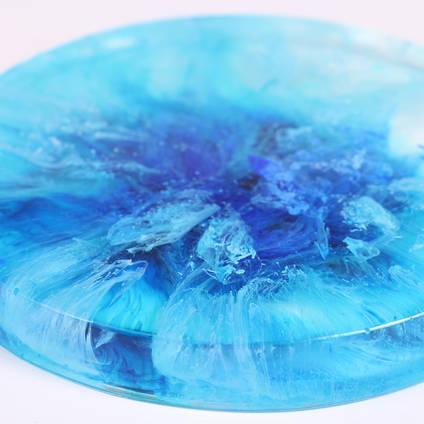 Blue Petri Dish by Asha Tank Art