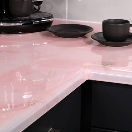 Rose Quartz Effect Countertop