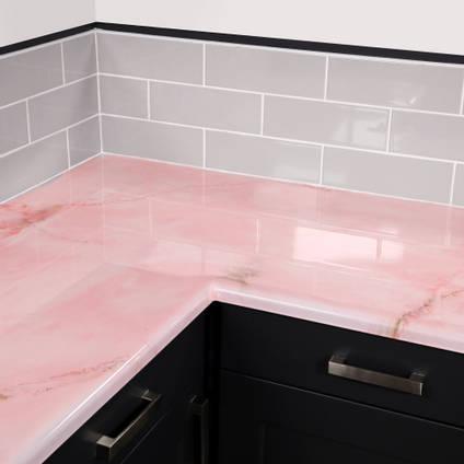 Rose Quartz Countertop Kit