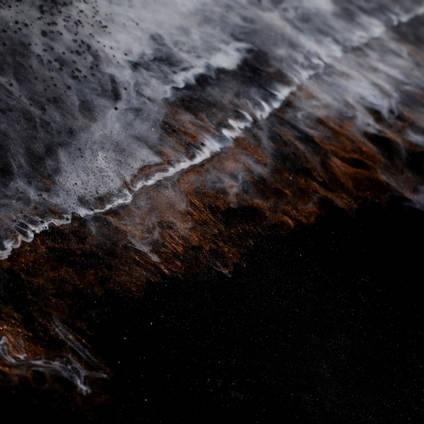 GlassCast Cosmic Black Granite Resin Countertop Natural Stone Effect Closeup 4