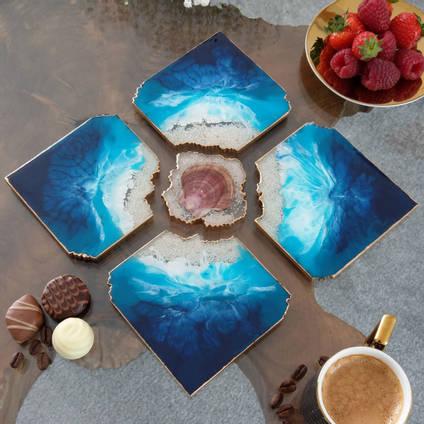Ocean-Resin-Agate-Coaster-by-Luna-Art-Resin