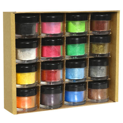 Set of 16 SHIMR Metallic Pigment Powders for Resin