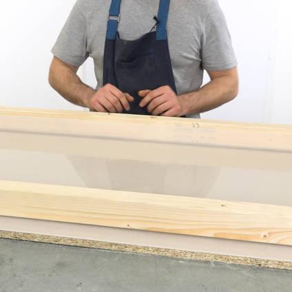 Polypropylene Sheet as a Non-stick Base for a River Table