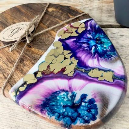 Resin Art Chopping Board by GCC Artworks