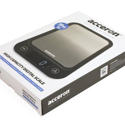 Acceron Digital Scales - Packaging Box Shot