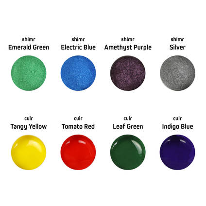 Representation of colours included in the Jewellery Kit