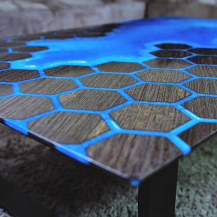 Bog Oak Blue Table by Special Works