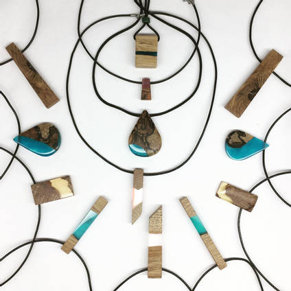 Wood and Resin Jewellery by LifeTimber by