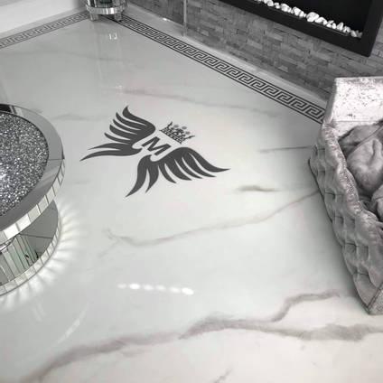 White Marble Effect Resin Floor by StoneFlow Coatings