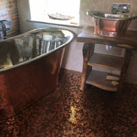 Epoxy Resin Penny Floor in a Bathroom using GlassCast 3 by Andre Lefevre Thumbnail