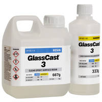 GlassCast 3 Clear Epoxy Coating Resin - 1kg Kit THUMBNAIL