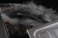 GlassCast Cosmic Black Granite Resin Countertop Sink Corner Shot Thumbnail