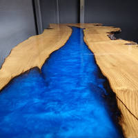 Electric Blue Resin River Table by Waters Edge Thumbnail