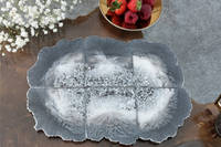 Grey Resin Agate Coaster Set using GlassCast 3 by Luna-Art Resin Thumbnail