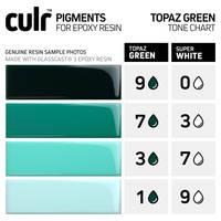 CULR Epoxy Pigment - Topaz Green Tone Chart Thumbnail
