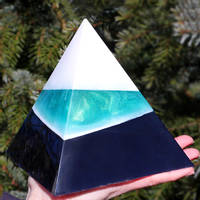 Resin Pyramid using Emerald Green SHIMR Thumbnail