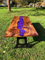 Purple Resin and Wood Table by GF Woodwork Thumbnail