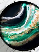 Resin Art Tray using Emerald Green SHIMR by Claudia Barrasso Designs Thumbnail