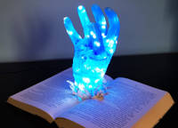 Resin Hand in Book Lamp by MB Resin Art Thumbnail