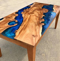 Scottish Blue Elm Dining Table by Marshbeck Interiors Thumbnail